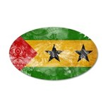 Sao Tome and Principe Flag 38.5 x 24.5 Oval Wall P