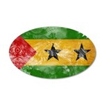 Sao Tome and Principe Flag 22x14 Oval Wall Peel