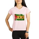 Sao Tome and Principe Flag Performance Dry T-Shirt