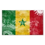 Senegal Flag Sticker (Rectangle 10 pk)