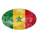 Senegal Flag Sticker (Oval 10 pk)