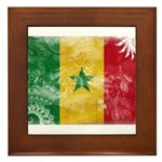 Senegal Flag Framed Tile