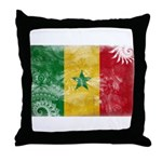 Senegal Flag Throw Pillow
