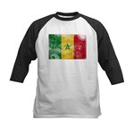 Senegal Flag Kids Baseball Jersey