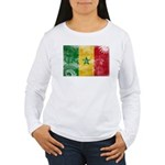 Senegal Flag Women's Long Sleeve T-Shirt