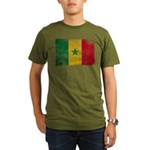 Senegal Flag Organic Men's T-Shirt (dark)