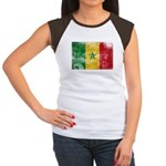 Senegal Flag Women's Cap Sleeve T-Shirt