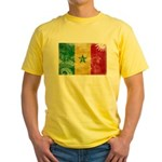 Senegal Flag Yellow T-Shirt