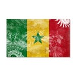 Senegal Flag 22x14 Wall Peel