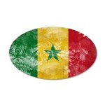 Senegal Flag 38.5 x 24.5 Oval Wall Peel
