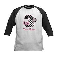 3rd Birthday Pink Black Dots Tee