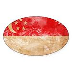 Singapore Flag Sticker (Oval 50 pk)