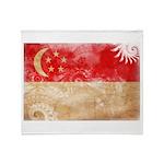 Singapore Flag Throw Blanket