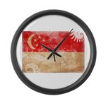 Singapore Flag Large Wall Clock