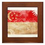 Singapore Flag Framed Tile