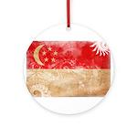 Singapore Flag Ornament (Round)