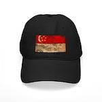 Singapore Flag Black Cap