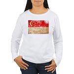 Singapore Flag Women's Long Sleeve T-Shirt