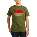 Singapore Flag Organic Men's T-Shirt (dark)