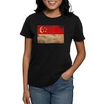 Singapore Flag Women's Dark T-Shirt