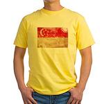 Singapore Flag Yellow T-Shirt