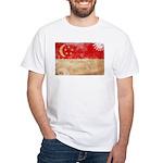 Singapore Flag White T-Shirt
