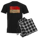 Singapore Flag Men's Dark Pajamas