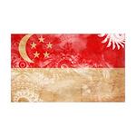Singapore Flag 38.5 x 24.5 Wall Peel