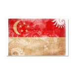 Singapore Flag Car Magnet 20 x 12