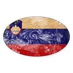Slovenia Flag Sticker (Oval 50 pk)