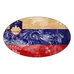 Slovenia Flag Sticker (Oval)