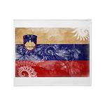 Slovenia Flag Throw Blanket
