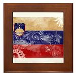Slovenia Flag Framed Tile