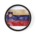 Slovenia Flag Wall Clock