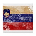 Slovenia Flag Tile Coaster