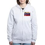 Slovenia Flag Women's Zip Hoodie
