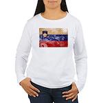 Slovenia Flag Women's Long Sleeve T-Shirt