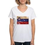 Slovenia Flag Women's V-Neck T-Shirt