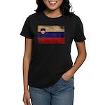 Slovenia Flag Women's Dark T-Shirt