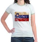 Slovenia Flag Jr. Ringer T-Shirt