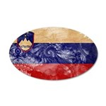 Slovenia Flag 22x14 Oval Wall Peel