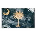 South Carolina Flag Sticker (Rectangle 50 pk)
