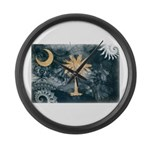 South Carolina Flag Large Wall Clock