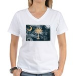 South Carolina Flag Women's V-Neck T-Shirt