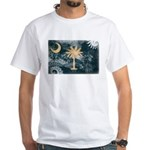 South Carolina Flag White T-Shirt