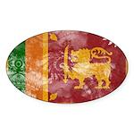 Sri Lanka Flag Sticker (Oval 10 pk)