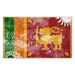 Sri Lanka Flag Sticker (Rectangle)
