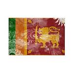 Sri Lanka Flag Rectangle Magnet (100 pack)