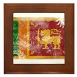 Sri Lanka Flag Framed Tile