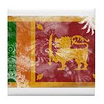 Sri Lanka Flag Tile Coaster